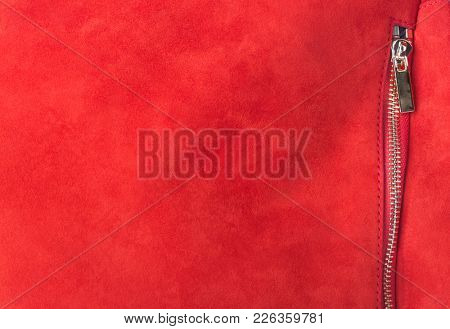 Pocket on red handbag - fashion background