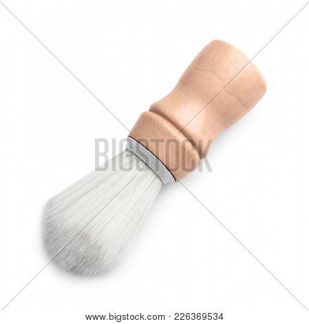 Shaving brush for man on white background