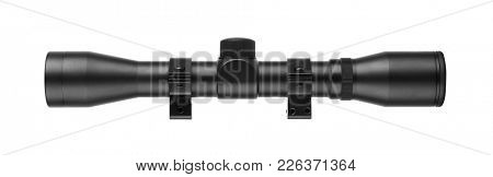 Sniper scope isolated on white background