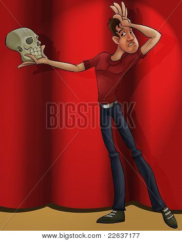 Actor Playing Hamlet