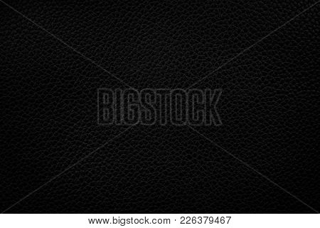 Black Leather Texture Background, Leather Pattern Texture.