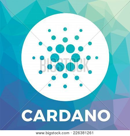 Cardano (ada) Decentralized Public Blockchain And Layered Cryptocurrency And Contracts Vector Logo.
