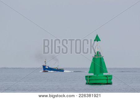 Buoy - Navigation Mark On The Shipping Lane