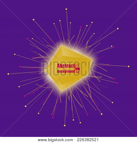 Abstract Faceted Element Cracked Into Multiple Fragments. Explosion Effect. Eps10 Vector Illustratio