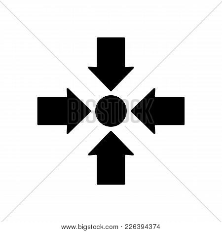 Meeting Point Icon Design. Vector Illustration Style Is Flat. Meeting Sign With Rounded Angles Isola