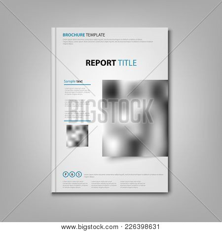 Brochures Book Or Flyer With Place For Photo Template Vector Eps 10