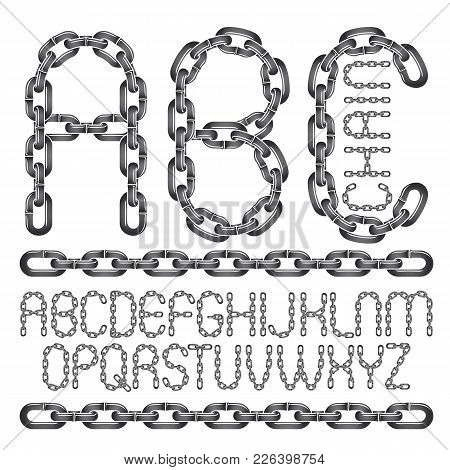 Vector Font, Trendy Typescript Can Be Used In Poster Creation. Capital Decorative Letters, Abc Creat