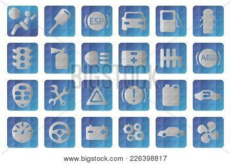 Vector Auto Icon. Automobile Signs. Car Symbols Set
