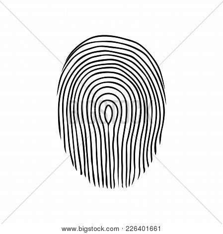 Fingerprint Or Dactylogram. The Evidence In The Detective Investigation Of The Crime. Symbol Of The