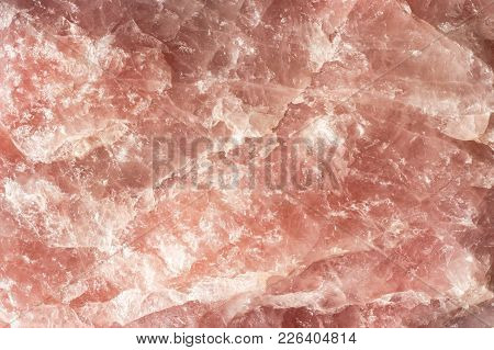 Himalayan Pink Salt Rock Background From Whole Solid Crystal Block
