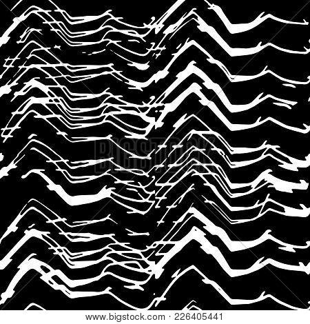 Irregular Lines Abstract Seamless Pattern