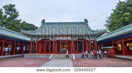 Tainan, Taiwan - November 3, 2017: Koxinga Shrine On 3 November 2017 In Tainan, Taiwan.in 1661, Koxi