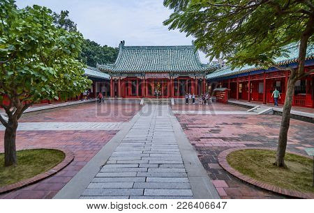 Tainan, Taiwan - November 3, 2017: Koxinga Shrine On 3 November 2017 In Tainan, Taiwan.in 1661, Koxi