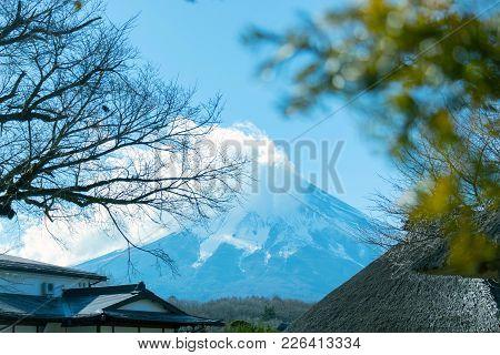 Fuji Mountain View In Close Up.