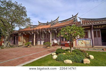 Tainan, Taiwan - November 4, 2017: Historic City South Gate On 4 November 2017 In Tainan, Taiwan. Th