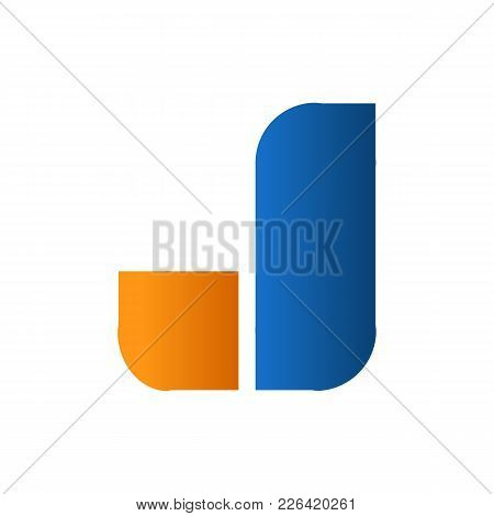 Initial J Creative Shape Symbol Vector Illustration Graphic Design