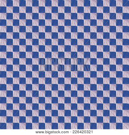 Grunge Seamless Blue Texture Broken Fractal Patterns