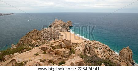 Lands End And Divorce Beach As Seen From Top Of Mt Solmar In Cabo San Lucas Baja Mexico Bcs