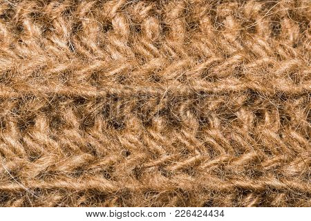 Texture Brown Hair Macro Photo Camel Wool