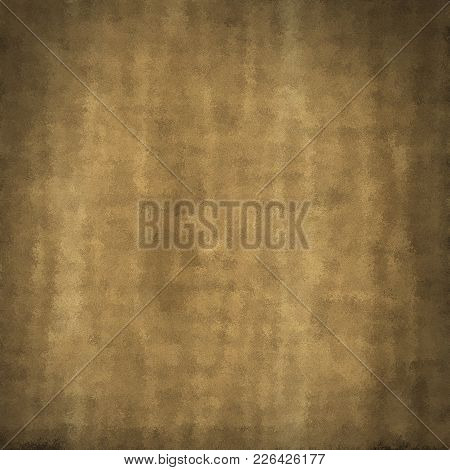 Grunge Beige Brown Distressed Obsolete Paper Background. Marble Natural Blurry Sackcloth Jute Plate.