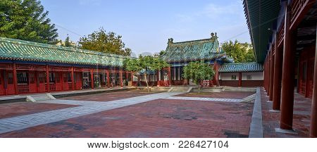 Tainan, Taiwan - November 4, 2017: Koxinga Shrine On 4 November 2017 In Tainan, Taiwan.in 1661, Koxi