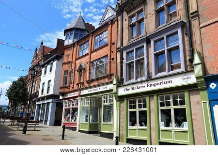 Rotherham, Uk - July 10, 2016: Street View In Rotherham, Uk. Rotherham Is A Large Town In South York