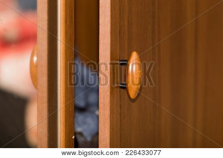 Cabinet Handle . Photo Of An Abstract Texture