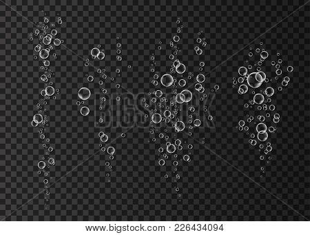 Underwater Fizzing Air Bubbles  Stream.