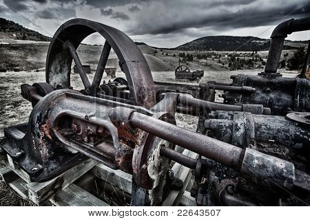 Old Abandoned Mine Machinery In Colorado