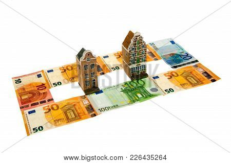 Concept Of Real Estate And Euro Paper Money