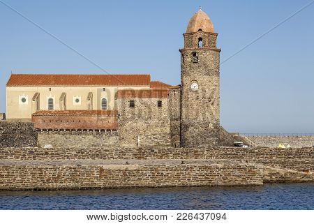 Collioure,france: Church Notre-dame-des-anges, Iconic Religious Building Of Maritime Village Of Coll