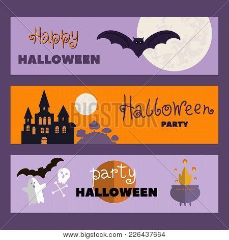 Background Holiday Design.halloween Design.template   Halloween  Cards. Halloween Haunted Castle, Tr