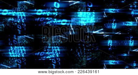 Technology Abstract with Glowing Overload Art Concept