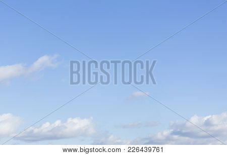 Blue Sky With Clouds. Beautiful Heaven. Nature Landscape