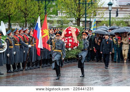 Moscow, Russia - May 08, 2017: Governor Of The Moscow Region Andrey Vorobiev  And Deputies Of The Go