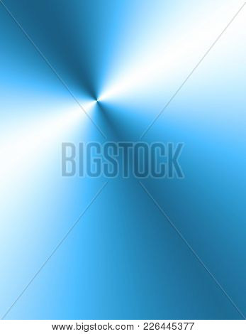 Ray of light reflected on metal plate. 3D rendering