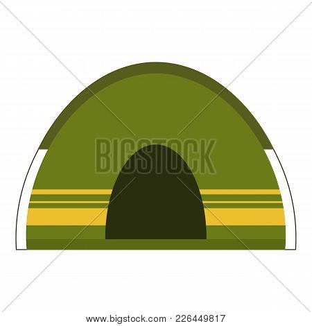 Camping Tent Icon. Flat Illustration Of Camping Tent Icon For Web