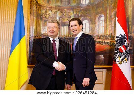 Sebastian Kurz And Petro Poroshenko