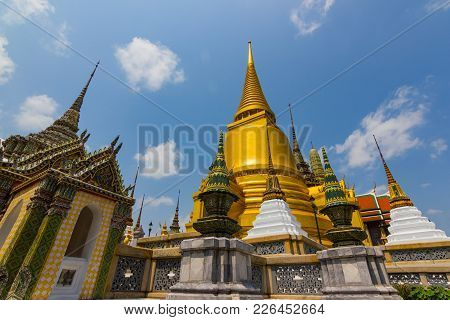 Wat Phra Kaew, Thailand - February 1, 2018: Temple of the Emerald Buddha (officially known as Wat Ph