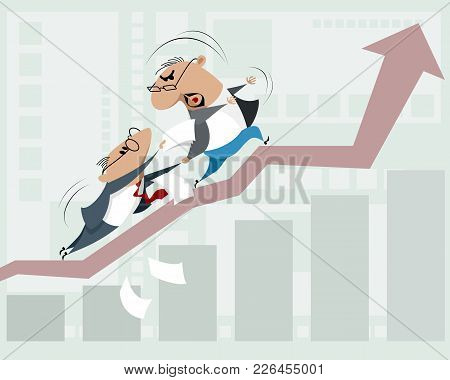 Vector Illustration Of Bureaucratic Obstacles To Business Growth