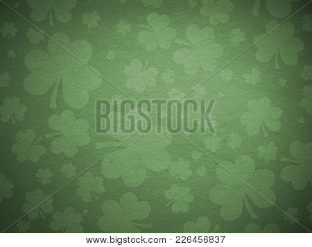 Green Clover Shamrocks Background For St Patricks Day.