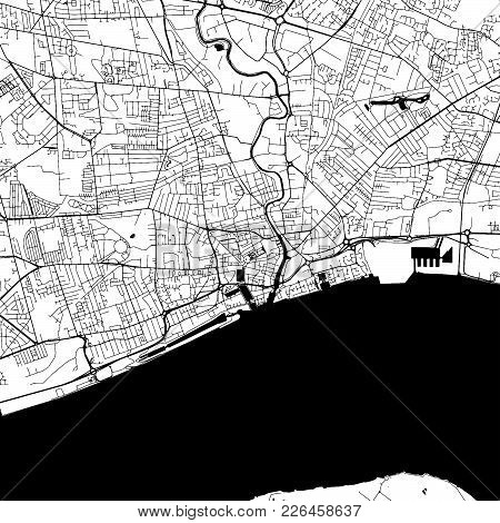 Kingston Upon Hull Downtown Map With Many Details For Various Usecases. This Map Of Kingston Upon Hu