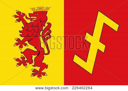 Flag Of Erwitte Is A Town In The District Of Soest, In North Rhine-westphalia, Germany. Vector Illus