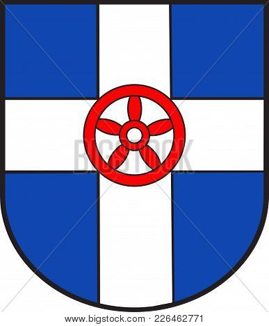 Coat Of Arms Of Geseke Is A Town In The Administrative District Of Soest, In North Rhine-westphalia,