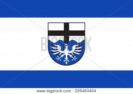 Flag Of Moehnesee Is A Municipality In The District Of Soest, In North Rhine-westphalia, Germany. Ve