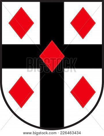 Coat Of Arms Of Ruethen Is A Town In The District Of Soest, In North Rhine-westphalia, Germany. Vect