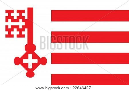 Flag Of Soest Is A City In North Rhine-westphalia, Germany. Vector Illustration