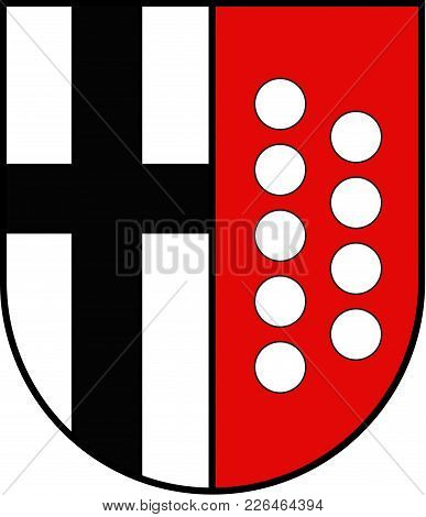 Coat Of Arms Of Warstein Is A Town In The District Of Soest, In North Rhine-westphalia, Germany. Vec