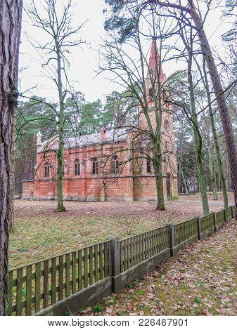 The Buldurian Lutheran Church Was Built From 1888 .latvia, Jurmala 2018