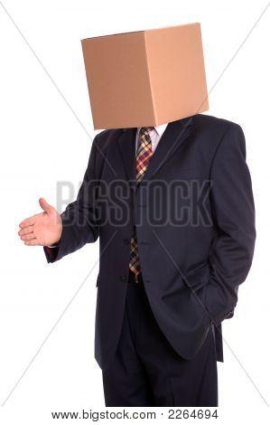 Box Man Handshake